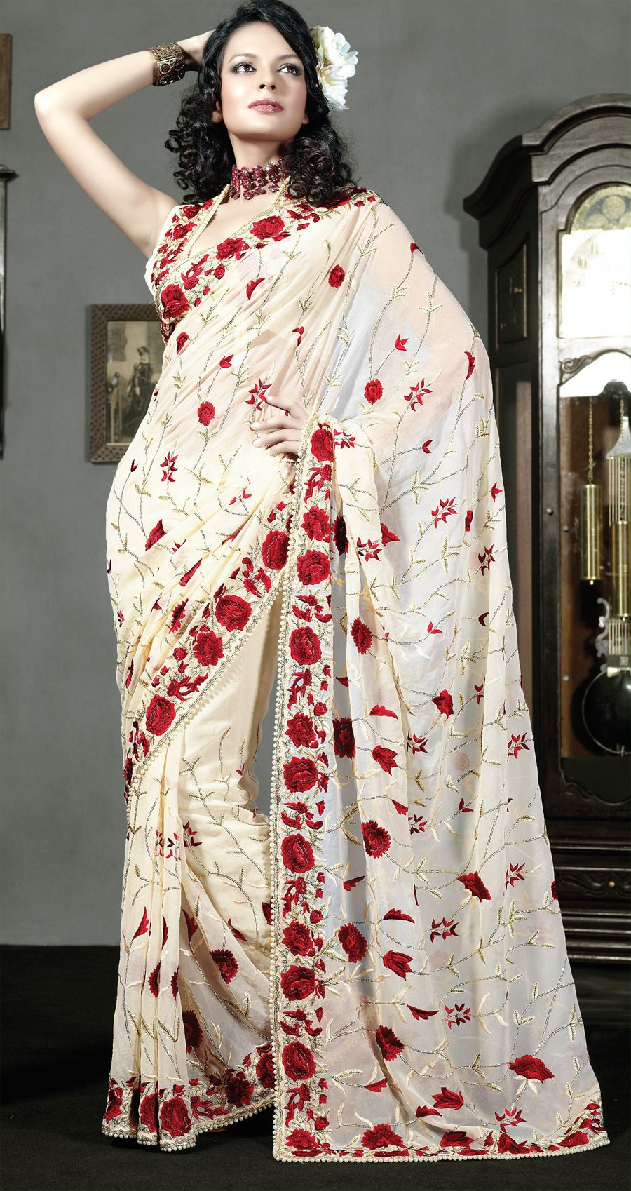Heavy Embroidery Sari 2012