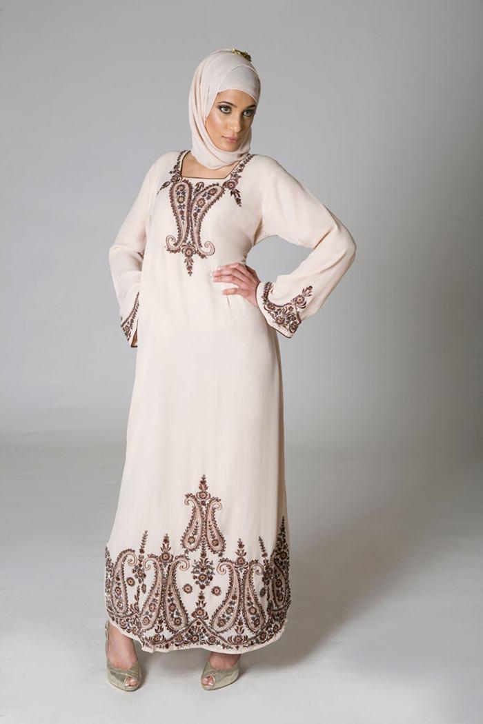 white work abaya with scarf stylecry